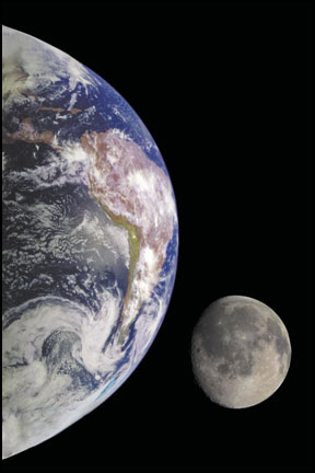 The Earth-Moon Complex as seen from a satellite. Magi Astrology has proven that Heliocentric Astrology is just as important as Geocentric Astrology.